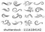 set of ornamental filigree... | Shutterstock .eps vector #1116184142