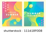 unique artistic summer cards... | Shutterstock .eps vector #1116189308