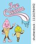 yummy ice cream | Shutterstock .eps vector #1116196442