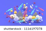 glass bottle and cap among the... | Shutterstock . vector #1116197078