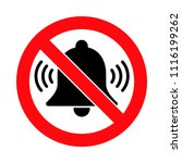 alarms forbidden sign  no loud... | Shutterstock .eps vector #1116199262