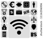 set of 17 business icons ... | Shutterstock .eps vector #1116206006