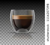 realistic coffee cup and... | Shutterstock .eps vector #1116207398