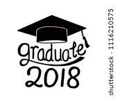 graduation class of 2018... | Shutterstock .eps vector #1116210575