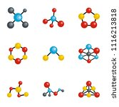 molecule icons set. cartoon set ... | Shutterstock .eps vector #1116213818