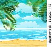 background summer beach... | Shutterstock .eps vector #1116214442