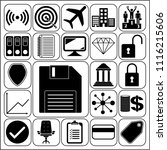 set of 22 business high quality ... | Shutterstock .eps vector #1116215606