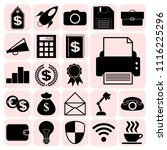 set of 22 business symbols of... | Shutterstock .eps vector #1116225296
