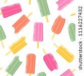 ice cream and frozen juice.... | Shutterstock .eps vector #1116227432