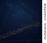 economic graph in perspective... | Shutterstock .eps vector #1116229628