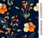 trendy seamless flower pattern. ...   Shutterstock .eps vector #1116230675