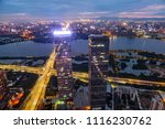 night scenery near the city | Shutterstock . vector #1116230762