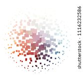 squared colorful vector... | Shutterstock .eps vector #1116232586