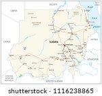 republic of the sudan road...   Shutterstock .eps vector #1116238865