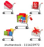 collection of shopping carts... | Shutterstock .eps vector #111623972