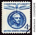 usa   circa 1959  a stamp... | Shutterstock . vector #1116242648