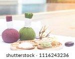 spa treatment equipments... | Shutterstock . vector #1116243236