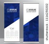 roll up business brochure flyer ... | Shutterstock .eps vector #1116250202