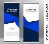 roll up business brochure flyer ... | Shutterstock .eps vector #1116250205