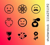 vector icon set about love with ... | Shutterstock .eps vector #1116251192