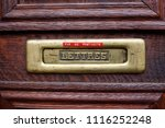 close up photo of mail box in... | Shutterstock . vector #1116252248