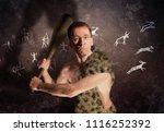 a modern man wearing glasses in ...   Shutterstock . vector #1116252392