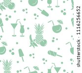 seamless pattern with cocktails ... | Shutterstock .eps vector #1116256652