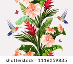 Seamless Vector Floral Summer...