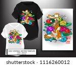 t shirt design japanese style...   Shutterstock .eps vector #1116260012