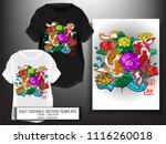 t shirt design japanese style...   Shutterstock .eps vector #1116260018