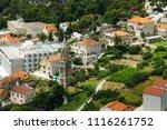 buildings details at hvar in... | Shutterstock . vector #1116261752