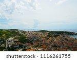 buildings details at hvar in... | Shutterstock . vector #1116261755