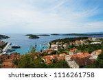 buildings details at hvar in... | Shutterstock . vector #1116261758