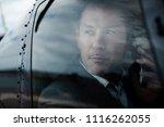 businessman talking on...   Shutterstock . vector #1116262055