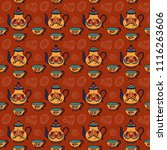 seamless pattern with  teapots  ...   Shutterstock .eps vector #1116263606