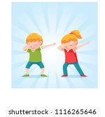 dabbing kid in flat style | Shutterstock .eps vector #1116265646