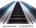 Escalator Isolated On White...