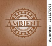 ambient wood emblem. retro | Shutterstock .eps vector #1116270038