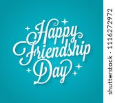 friendship day vintage... | Shutterstock .eps vector #1116272972