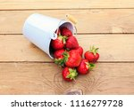 ripe juicy red strawberries... | Shutterstock . vector #1116279728