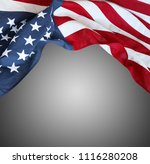 closeup of american flag on...   Shutterstock . vector #1116280208