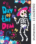day of the dead. mariachi... | Shutterstock .eps vector #1116283502