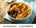 homemade steak pie | Shutterstock . vector #1116288302