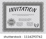 grey vintage invitation... | Shutterstock .eps vector #1116293762