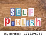 "phrase ""self publish"" in cut... | Shutterstock . vector #1116296756"
