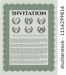 green vintage invitation. with... | Shutterstock .eps vector #1116299816