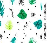seamless floral pattern  vector ... | Shutterstock .eps vector #1116307382