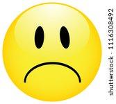 smiley emoticons icon negative ....   Shutterstock .eps vector #1116308492