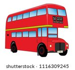 red london routemaster bus | Shutterstock .eps vector #1116309245