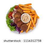 falafel plate with fresh... | Shutterstock . vector #1116312758